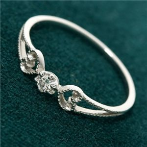 10000円以上送料無料 K18WG アンティーク調ダイヤリング 指輪 19号 ファッション リング・指輪 天然石 ダイヤモンド レビュー投稿で次回使える2000円クーポン全員にプレゼント