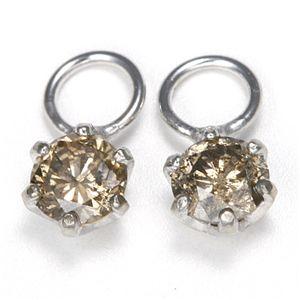 K18 0.2ctダイヤモンドチャーム ホワイト(WG) ファッション その他のアクセサリー その他のアクセサリー レビュー投稿で次回使える2000円クーポン全員にプレゼント
