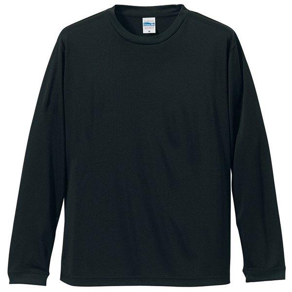 【送料無料】UVカット・吸汗速乾・シルキータッチロングスリーブ Tシャツ CB5089 ブラック L ファッション トップス Tシャツ 長袖Tシャツ レビュー投稿で次回使える2000円クーポン全員にプレゼント