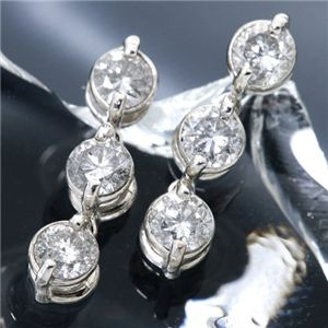 5000円以上送料無料 3ストーンダイヤモンドピアス0.5ct ファッション ピアス・イヤリング 天然石 ダイヤモンド レビュー投稿で次回使える2000円クーポン全員にプレゼント