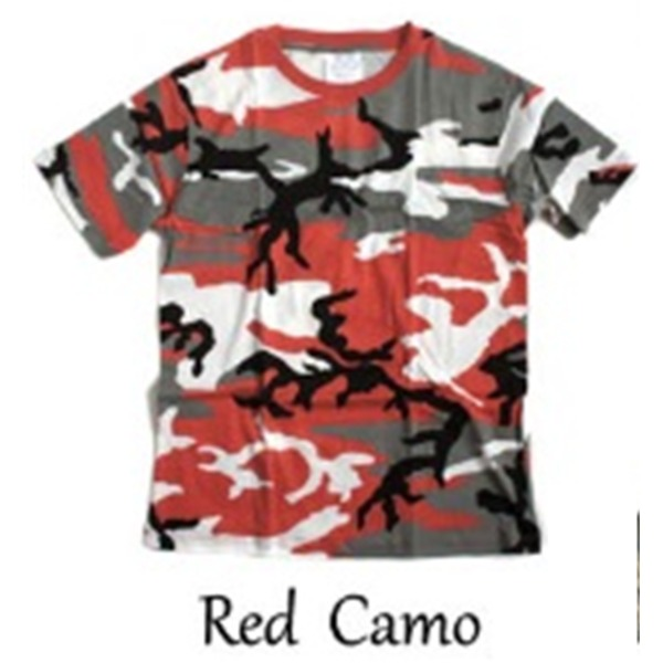 【送料無料】カモフラージュ Tシャツ( 迷彩 Tシャツ) JT048YN レッド カモ Sサイズ ファッション トップス Tシャツ 半袖Tシャツ レビュー投稿で次回使える2000円クーポン全員にプレゼント
