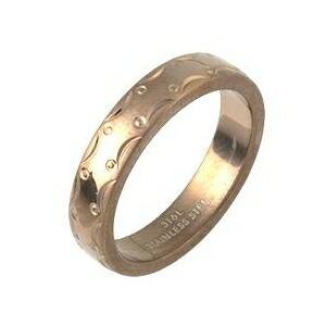 【送料無料】ステンレスリング アラベスク模様 ブロンズカラー 21号 ファッション リング・指輪 その他のリング・指輪 レビュー投稿で次回使える2000円クーポン全員にプレゼント