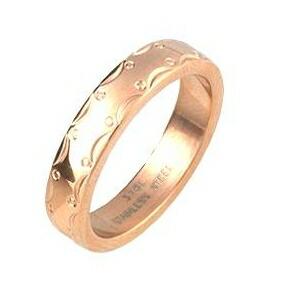 【送料無料】ステンレスリング アラベスク模様 ピンクゴールドカラー 13号 ファッション リング・指輪 その他のリング・指輪 レビュー投稿で次回使える2000円クーポン全員にプレゼント