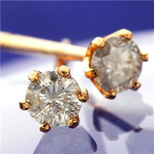 10000円以上送料無料 K18PG ダイヤモンドピアス 0.1ct スタッドピアス ファッション ピアス・イヤリング 天然石 ダイヤモンド レビュー投稿で次回使える2000円クーポン全員にプレゼント