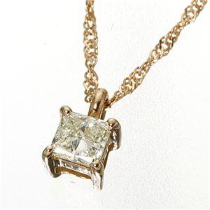 10000円以上送料無料 0.15ctダイヤモンドプリンセスカットペンダント/ネックレス ピンクゴールド ファッション ネックレス・ペンダント 天然石 ダイヤモンド レビュー投稿で次回使える2000円クーポン全員にプレゼント