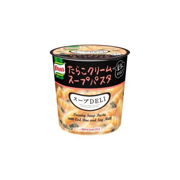 【まとめ買い】味の素 クノール スープDELI たらこクリームスープパスタ(豆乳仕立て) 44.7g×18カップ(6カップ×3ケース) フード・ドリンク・スイーツ カップ食品 カップスープ クノール レビュー投稿で次回使える2000円クーポン全員にプレゼント