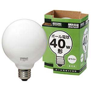 ボール電球 40W形 ホワイト 家電 電球 その他の電球 レビュー投稿で次回使える2000円クーポン全員にプレゼント