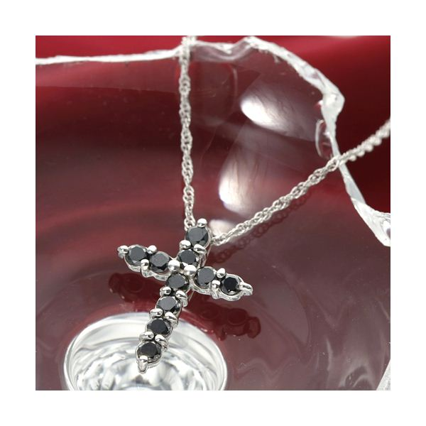 10000円以上送料無料 K18 0.3ctブラックダイヤモンドクロスペンダント ファッション ネックレス・ペンダント 天然石 ダイヤモンド レビュー投稿で次回使える2000円クーポン全員にプレゼント