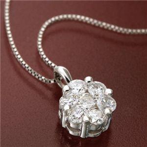 10000円以上送料無料 K18WG インビジブルセッティングダイヤモンドペンダント/ネックレス ファッション ネックレス・ペンダント 天然石 ダイヤモンド レビュー投稿で次回使える2000円クーポン全員にプレゼント
