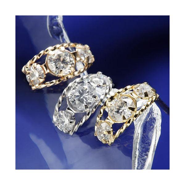 10000円以上送料無料 K18ローブダイヤモンドピアス K18WG ファッション ピアス・イヤリング 天然石 ダイヤモンド レビュー投稿で次回使える2000円クーポン全員にプレゼント