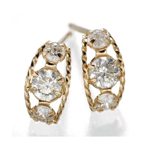 10000円以上送料無料 K18ローブダイヤモンドピアス K18PG ファッション ピアス・イヤリング 天然石 ダイヤモンド レビュー投稿で次回使える2000円クーポン全員にプレゼント