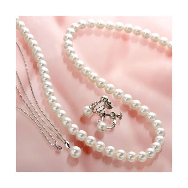 あこや真珠使用 パールネックレス & パールイヤリング & パールペンダント 3点セット ピンクトルマリンのペンダント付き ファッション その他のアクセサリー 3点セット レビュー投稿で次回使える2000円クーポン全員にプレゼント