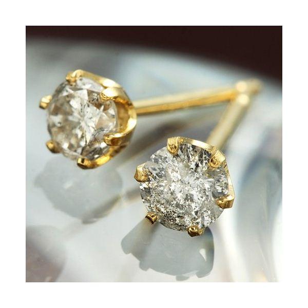 5000円以上送料無料 K18イエローゴールド ダイヤモンドピアス0.3ct ファッション ピアス・イヤリング 天然石 ダイヤモンド レビュー投稿で次回使える2000円クーポン全員にプレゼント