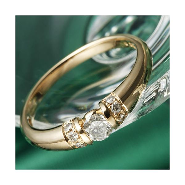 10000円以上送料無料 K18PG/0.28ctダイヤリング 指輪 13号 ファッション リング・指輪 天然石 ダイヤモンド レビュー投稿で次回使える2000円クーポン全員にプレゼント