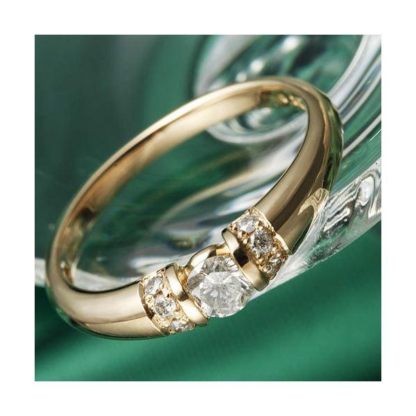10000円以上送料無料 K18PG/0.28ctダイヤリング 指輪 17号 ファッション リング・指輪 天然石 ダイヤモンド レビュー投稿で次回使える2000円クーポン全員にプレゼント