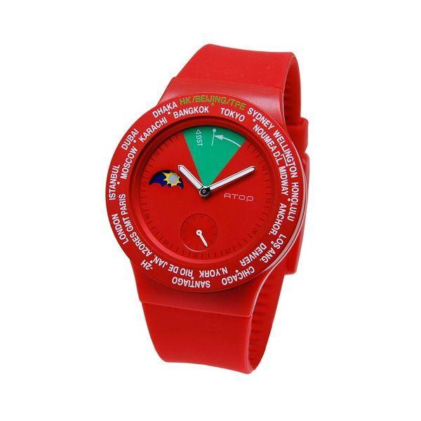 【送料無料】ATOP(エートップ) ワールドタイム ウォッチ VWA-05 レッド ファッション 腕時計 その他の腕時計 レビュー投稿で次回使える2000円クーポン全員にプレゼント