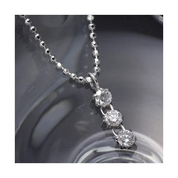 3ストーンダイヤモンドペンダント/ネックレス ファッション ネックレス・ペンダント 天然石 ダイヤモンド レビュー投稿で次回使える2000円クーポン全員にプレゼント