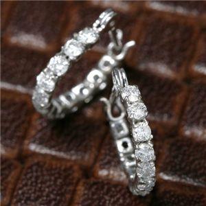 5000円以上送料無料 K18WG フルエタニティダイヤモンドピアス 合計0.3CT ファッション ピアス・イヤリング 天然石 ダイヤモンド レビュー投稿で次回使える2000円クーポン全員にプレゼント