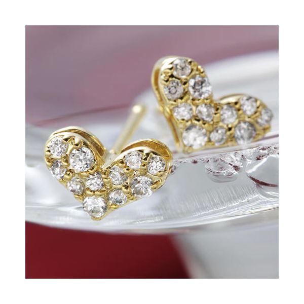 10000円以上送料無料 K18YGダイヤモンドピアス ハートパヴェピアス ファッション ピアス・イヤリング 天然石 ダイヤモンド レビュー投稿で次回使える2000円クーポン全員にプレゼント