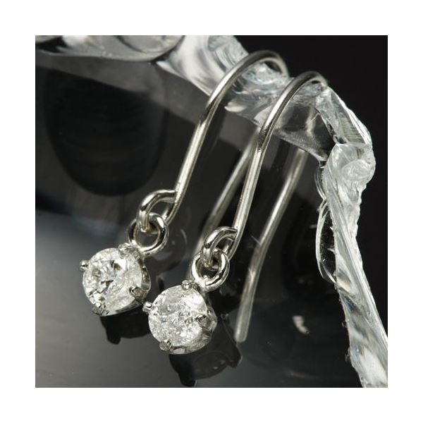 10000円以上送料無料 PT0.1ctダイヤモンドピアス フックピアス プラチナ ファッション ピアス・イヤリング 天然石 ダイヤモンド レビュー投稿で次回使える2000円クーポン全員にプレゼント