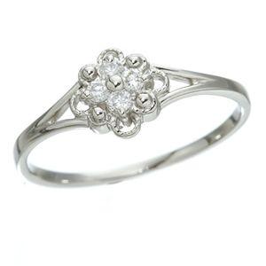 10000円以上送料無料 プラチナダイヤリング 指輪 デザインリング3型 フローラ 17号 ファッション リング・指輪 天然石 ダイヤモンド レビュー投稿で次回使える2000円クーポン全員にプレゼント