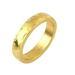 【送料無料】ステンレスリング アラベスク模様 ゴールドカラー 7号 ファッション リング・指輪 その他のリング・指輪 レビュー投稿で次回使える2000円クーポン全員にプレゼント