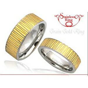 10000円以上送料無料 ステンレスリング グレーンゴールド 7mm太幅タイプ 19号 ファッション リング・指輪 その他のリング・指輪 レビュー投稿で次回使える2000円クーポン全員にプレゼント
