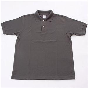 10000円以上送料無料 ドライメッシュアクティブ半袖ポロシャツ ダークグレー L ファッション トップス ポロシャツ その他のポロシャツ レビュー投稿で次回使える2000円クーポン全員にプレゼント