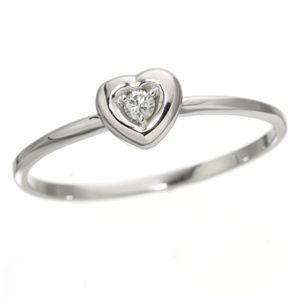 10000円以上送料無料 K10ハートダイヤリング 指輪 ホワイトゴールド 11号 ファッション リング・指輪 天然石 ダイヤモンド レビュー投稿で次回使える2000円クーポン全員にプレゼント