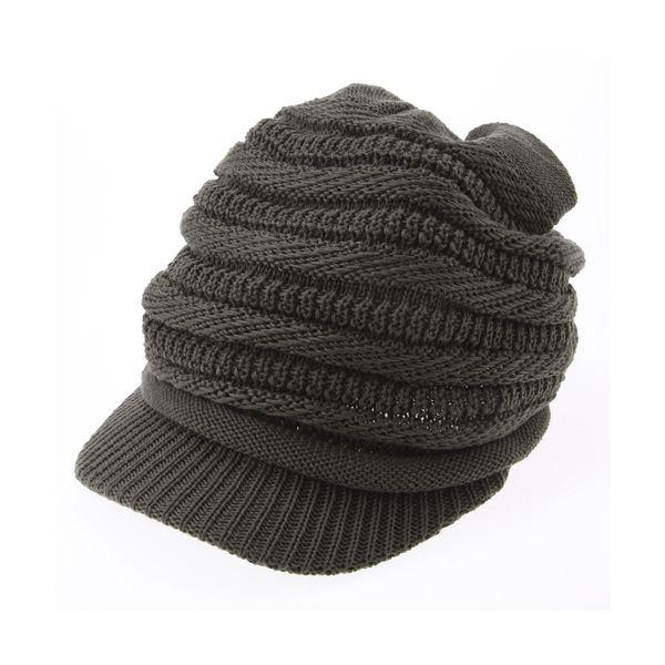 10000円以上送料無料 ツマミ烏帽子ニットキャップ カーキ ファッション 帽子・キャップ・ハット レディース帽子 レビュー投稿で次回使える2000円クーポン全員にプレゼント