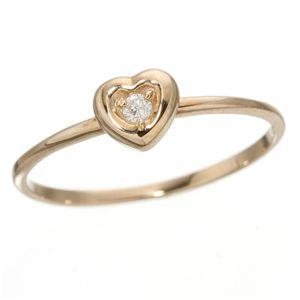 10000円以上送料無料 K10ハートダイヤリング 指輪 ピンクゴールド 11号 ファッション リング・指輪 天然石 ダイヤモンド レビュー投稿で次回使える2000円クーポン全員にプレゼント
