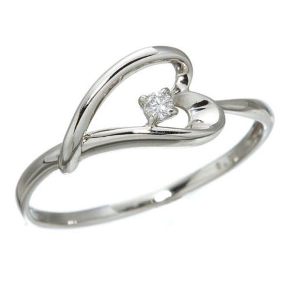5000円以上送料無料 プラチナダイヤモンドデザインリング3型 ウェビングハート 7号 ファッション リング・指輪 天然石 ダイヤモンド レビュー投稿で次回使える2000円クーポン全員にプレゼント