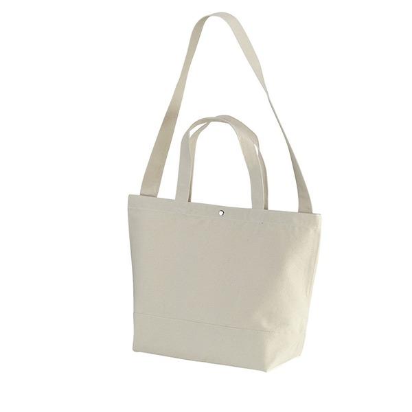 帆布製綿キャンパスコットンスイッチングトートバッグ2WAY ナチュラル ファッション バッグ トートバッグ その他のトートバッグ レビュー投稿で次回使える2000円クーポン全員にプレゼント