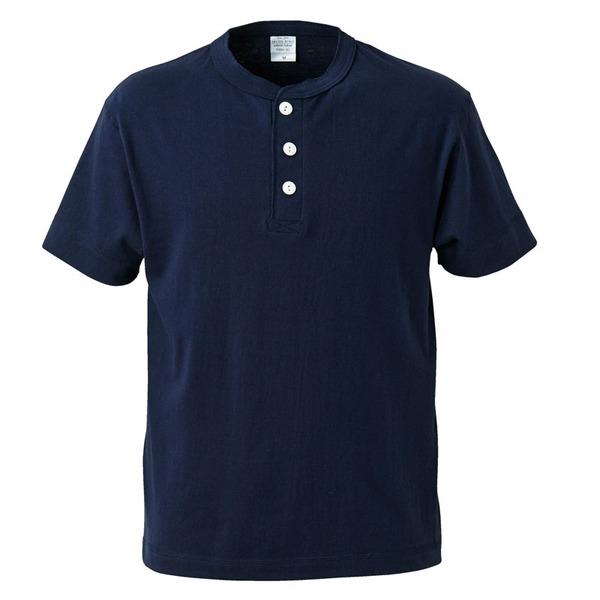アウトフィットに最適ヘビーウェイト5.6オンスセミコーマヘンリーネック Tシャツ2枚セット ネイビー+ブラック L ファッション トップス Tシャツ 半袖Tシャツ レビュー投稿で次回使える2000円クーポン全員にプレゼント
