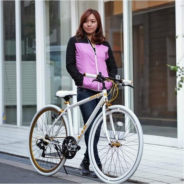 【送料無料】クロスバイク 700c(約28インチ)/ホワイト(白) シマノ7段変速 重さ/ 12.0kg 軽量 アルミフレーム 【LIG MOVE】【代引不可】 生活用品・インテリア・雑貨 自転車(シティーサイクル) クロスバイク レビュー投稿で次回使える2000円クーポン全員にプレゼント