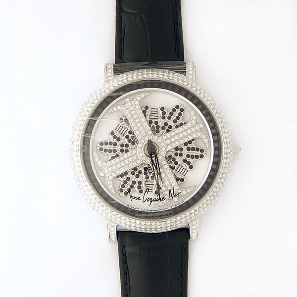 10000円以上送料無料 アンコキーヌ ネオ 45mm バイカラー ミニクロス シルバーベゼル インナーベゼルブラック ブラックベルト アルバ 正規品(腕時計・グルグル時計) ファッション 腕時計 レディース(女性) レビュー投稿で次回使える2000円クーポン全員にプレゼント