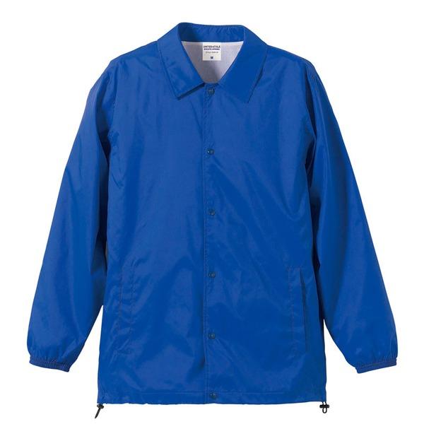 10000円以上送料無料 撥水防風加工裏地起毛付コーチジャケット ブルー L ファッション トップス ジャケット メンズジャケット レビュー投稿で次回使える2000円クーポン全員にプレゼント