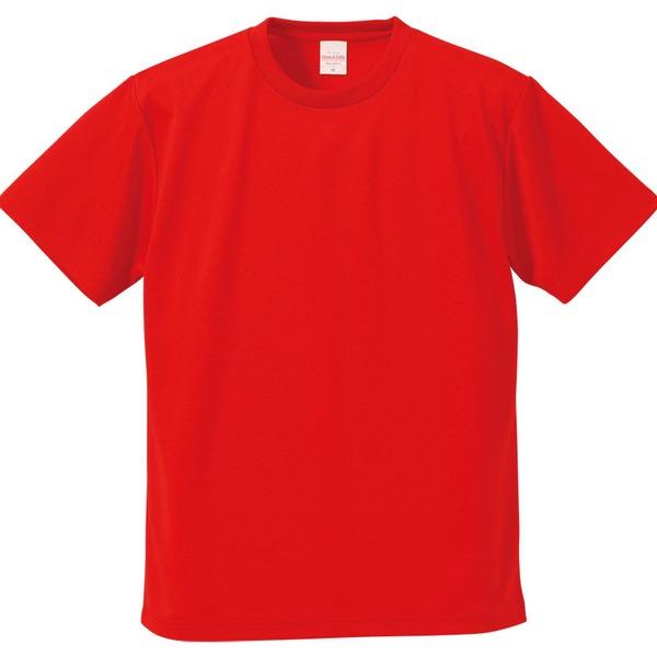 10000円以上送料無料 UVカット・吸汗速乾・5枚セット・4.1オンスさらさらドライ Tシャツ レッド 160cm ファッション トップス Tシャツ 半袖Tシャツ レビュー投稿で次回使える2000円クーポン全員にプレゼント