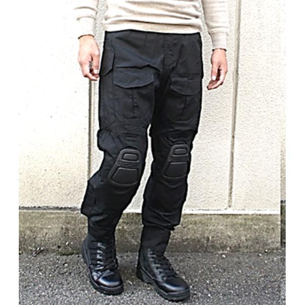 10000円以上送料無料 ニーガード付G3タクティカルパンツ ブラック S ファッション ボトムス パンツ ミリタリーパンツ レビュー投稿で次回使える2000円クーポン全員にプレゼント