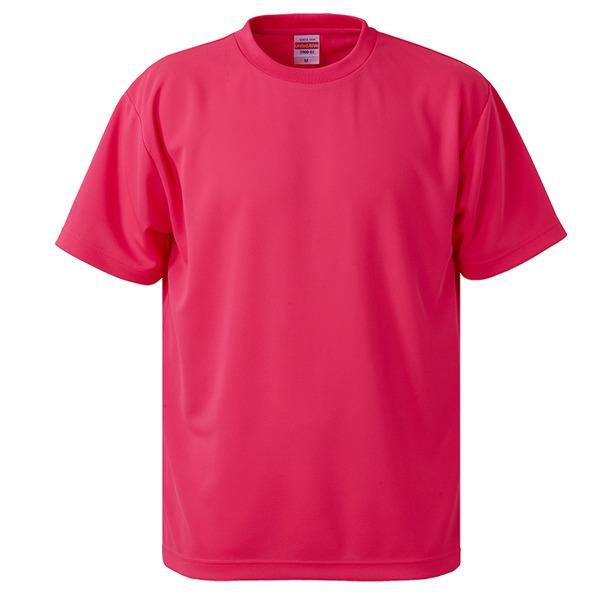 10000円以上送料無料 UVカット・吸汗速乾・5枚セット・4.1オンスさらさらドライ Tシャツ蛍光ピンク XXXXL ファッション トップス Tシャツ 半袖Tシャツ レビュー投稿で次回使える2000円クーポン全員にプレゼント