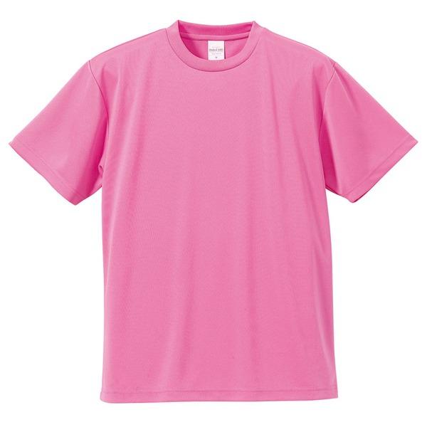 10000円以上送料無料 UVカット・吸汗速乾・5枚セット・4.1オンスさらさらドライ Tシャツピンク XL ファッション トップス Tシャツ 半袖Tシャツ レビュー投稿で次回使える2000円クーポン全員にプレゼント