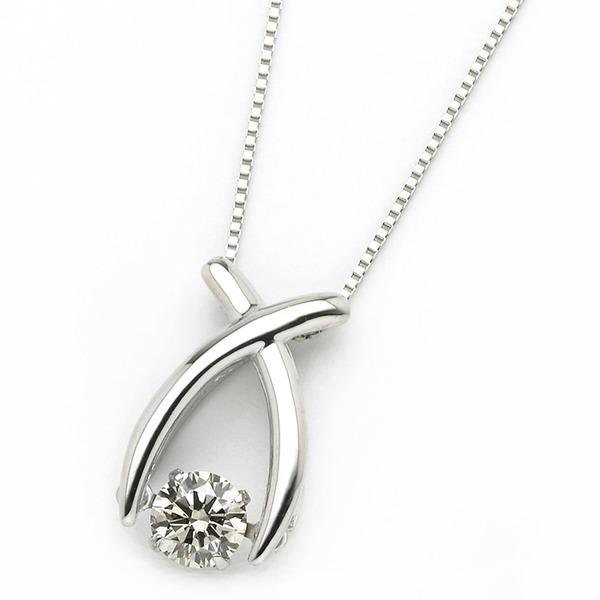 ダイヤモンド ネックレス プラチナ Pt900 0.3ct 揺れる ダイヤ ダンシングストーン ダイヤネックレス リボン ペンダント ファッション ネックレス・ペンダント 天然石 ダイヤモンド レビュー投稿で次回使える2000円クーポン全員にプレゼント