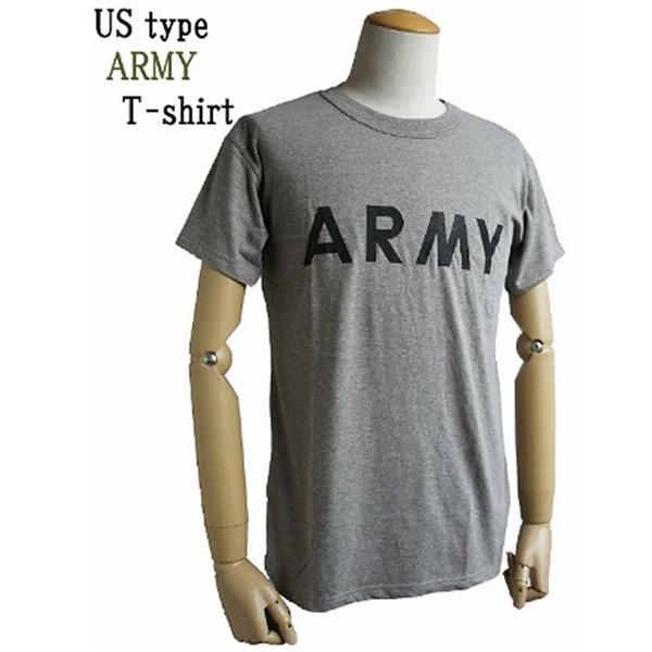 10000円以上送料無料 USタイプARMY杢グレーTシャツ XS ホビー・エトセトラ ミリタリー ウェア レビュー投稿で次回使える2000円クーポン全員にプレゼント