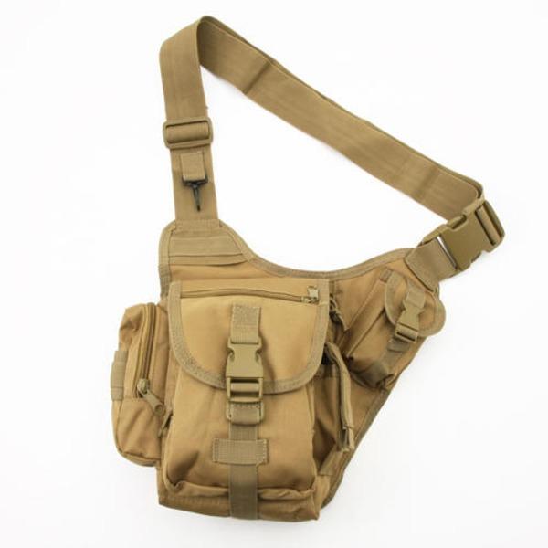 【送料無料】8ポケット防水ショルダーボディーバッグ B S055YN コヨーテ ブラウン ファッション バッグ デイパック・リュックサック レビュー投稿で次回使える2000円クーポン全員にプレゼント