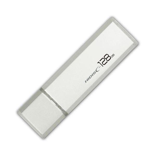 HIDISC USB 3.0 フラッシュドライブ 128GB シルバー キャップ式 HDUF114C128G3 AV・デジモノ パソコン・周辺機器 USBメモリ・SDカード・メモリカード・フラッシュ USBメモリ レビュー投稿で次回使える2000円クーポン全員にプレゼント