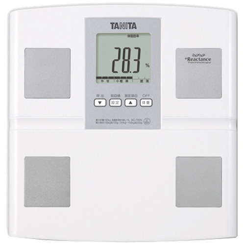 家電 測定器 体脂肪計・体重計 タニタ 体組成計 BC-705N ホワイト