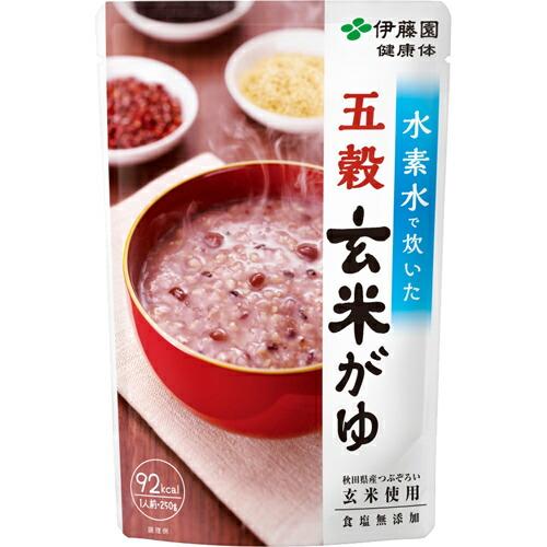 フード 米・雑穀類 ごはん・お粥 伊藤園 水素水で炊いた五穀玄米がゆ 250g