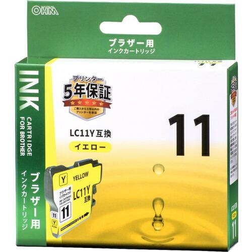 家電 別売部品 プリンタ用インク ブラザー用インクカートリッジ LC11Y互換 染料イエロー INK-B11B-Y