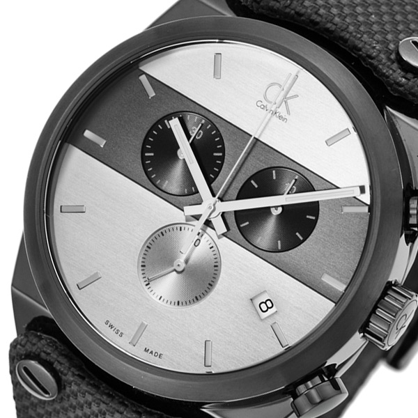 カルバン クライン イーガー クロノ クオーツ メンズ 腕時計 K4B374B6 ブラック/グレー 【腕時計 海外インポート品】返品可 レビュー投稿で次回使える2000円クーポン全員にプレゼント