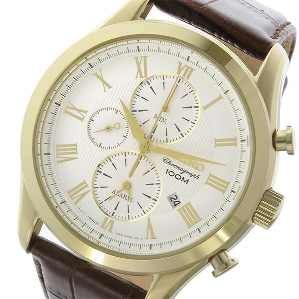 セイコー SEIKO クロノ クオーツ メンズ 腕時計 SNAF72P1 ホワイト 【腕時計 海外インポート品】返品可 レビュー投稿で次回使える2000円クーポン全員にプレゼント